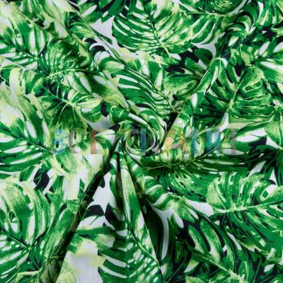 Лён принт (листья) VT-1569