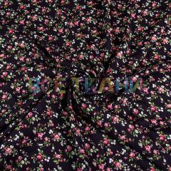 Штапель (цветы на чёрном) VT-1611