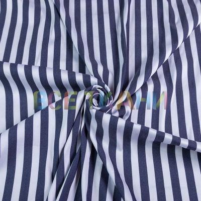 Рубашечная (сорочечная) ткань коттон (полоска средняя) VT-1629-С1