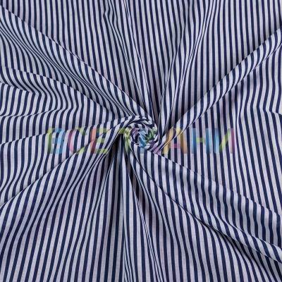 Рубашечная ткань (полоска т. синя-серая) VT-1635