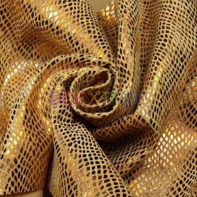Искусственный замш принт (рептилия золото) DT-D102-C2