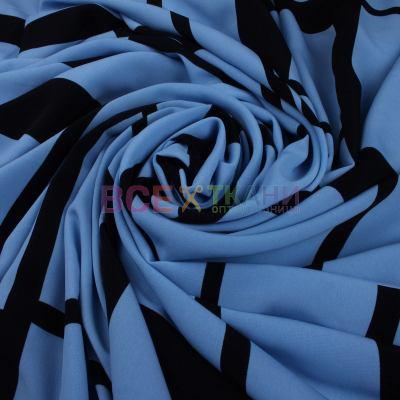 Келли креп (абстракция голубая) VT-119
